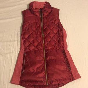 Lululemon vest, size 6, pink/magenta